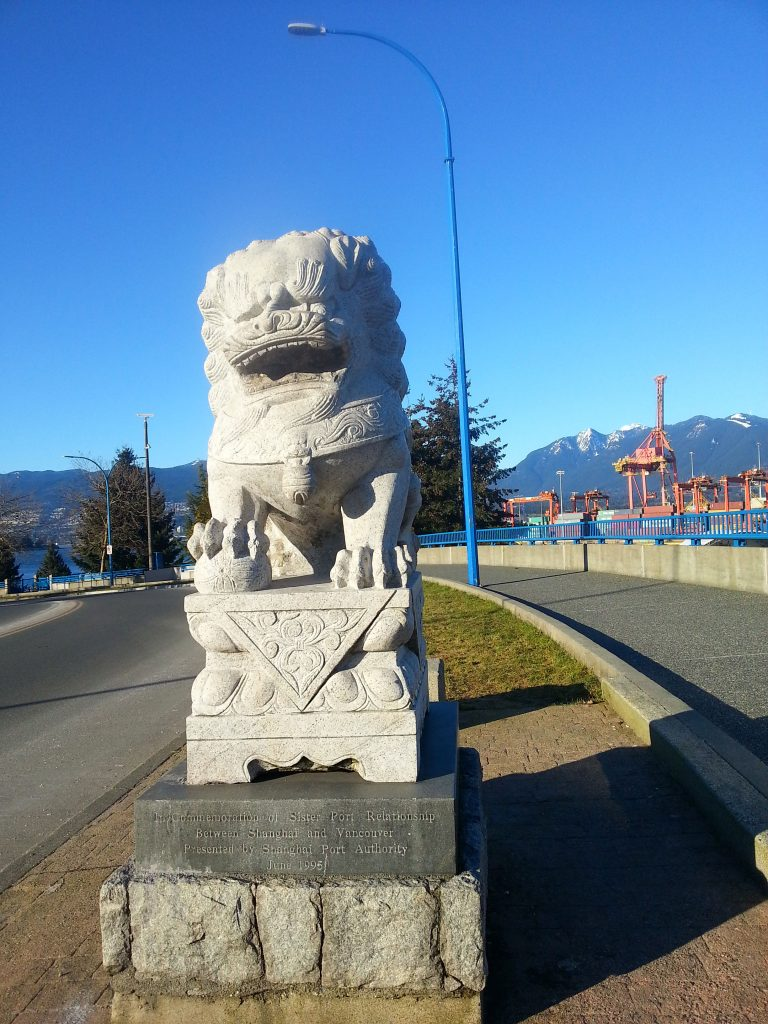 February 1, 2017 Lion on east side of Main Street Bridge