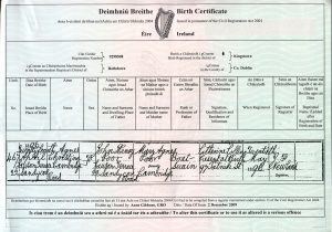 Agnes Christiana Poor Birth Certificate 1896