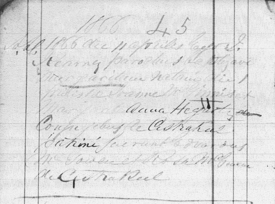 Baptism Record for Margaret McGinnes
