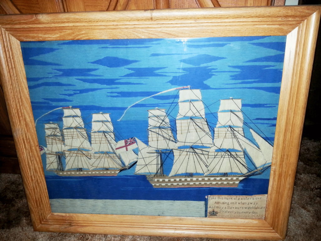 Woolwork Tapestry created by James Cambridge while at sea