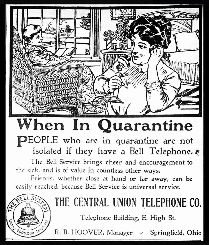 Bell System Flu Quarantine<br />Bell System / Public domain
